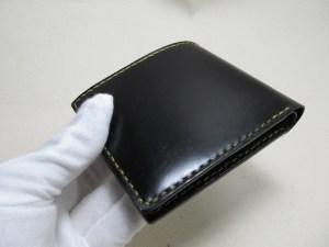 コードバン二つ折り財布210708革製品
