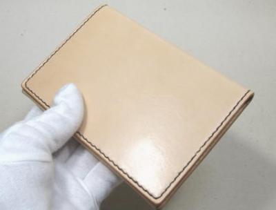ヌメ革のパスポートケース