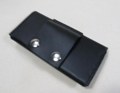iphone6ケースベルト通し黒レザー
