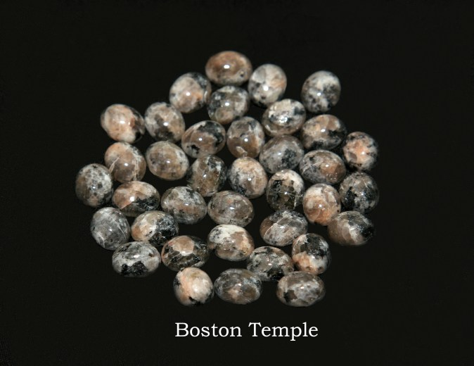 Temple stones from the LDS Boston Temple by Nauvoo Remembered jewelry