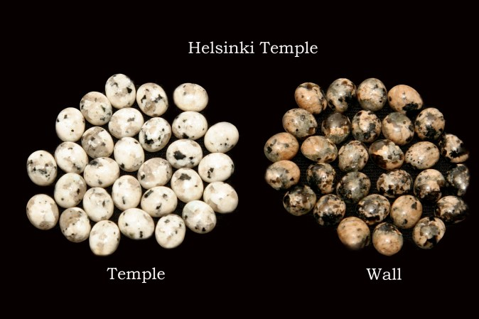Temple stones from the LDS Helsinki Temple by Nauvoo Remembered jewelry
