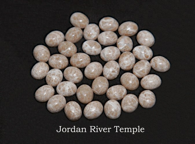 Temple stones from the LDS Jordan River Temple by Nauvoo Remembered jewelry