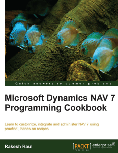 Microsoft Dynamics NAV 7 Programming Cookbook – The Final Review (1/2)