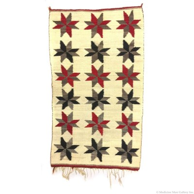 Navajo Crystal Double Saddle Blanket with Valero Stars