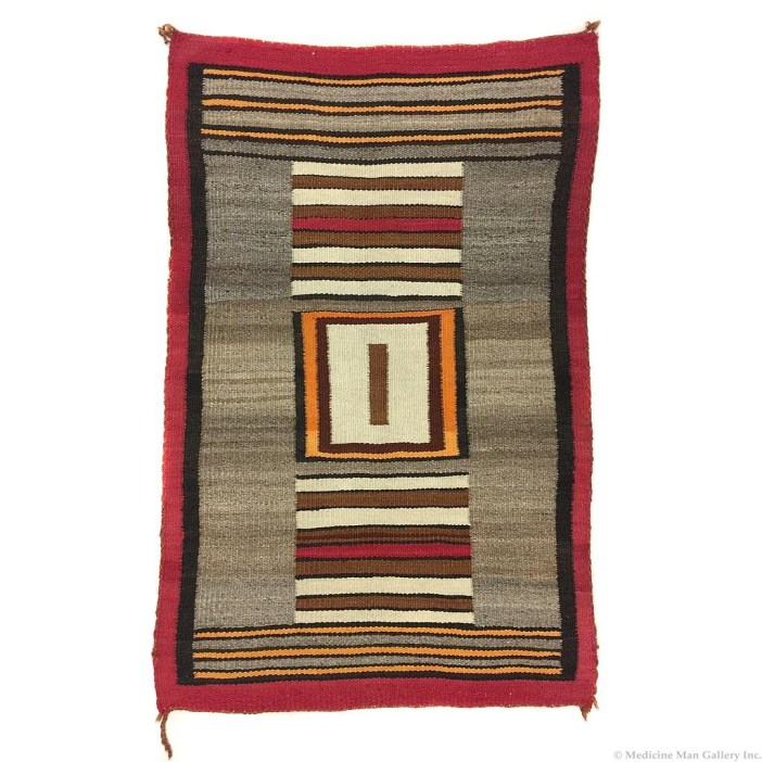 Navajo Double Saddle Blanket 1910