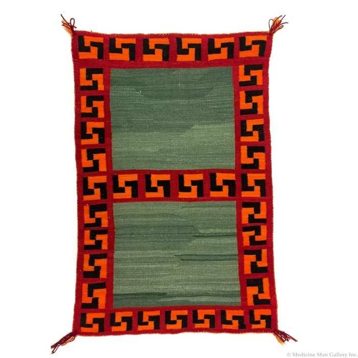 Navajo Double Saddle Blanket C. 1900