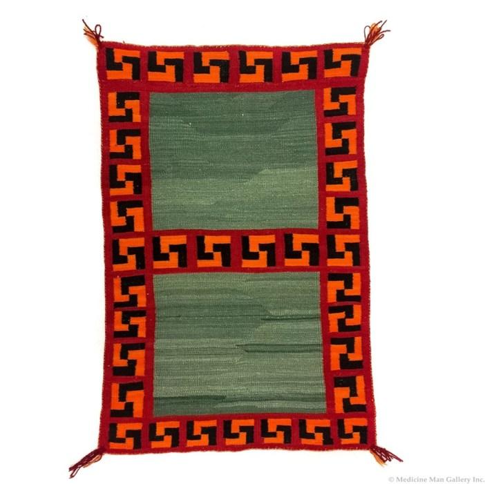 Navajo Double Saddle Blanket C. 1900