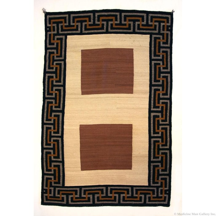 Navajo Double Saddle Blanket c. 1920