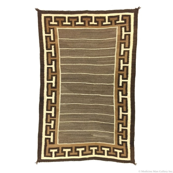 Navajo Double Saddle Blanket c1900