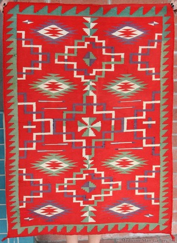 Navajo Germantown Double Saddle Blanket