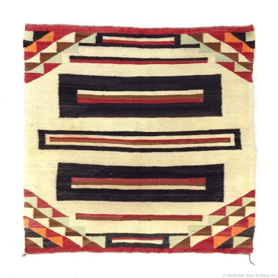 Navajo Single Saddle Blanket c. 1920