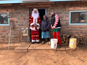 Navajo Santa, Navajo elder and volunteer elf