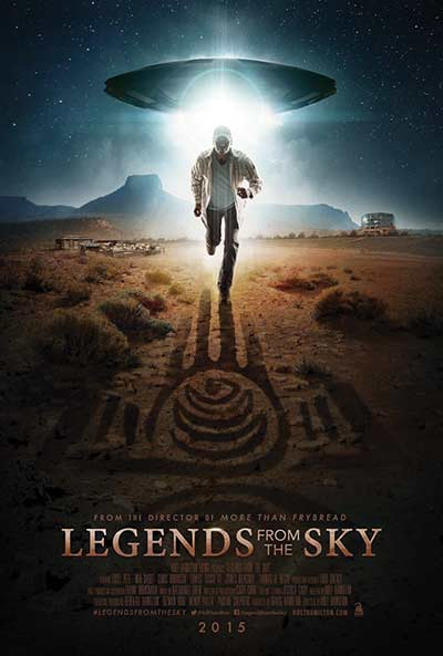"""Promotional art for Native, sci-fi thriller, """"Legends of the Sky."""""""
