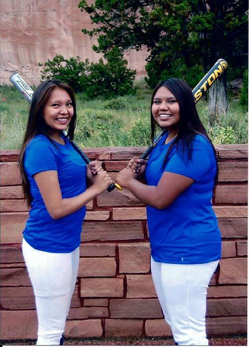 Submitted Rochelle Begaye, left, and Courage Todachine were selected to Team USA women's fast pitch softball team that will compete in the Dominican Republic this summer July 20-26, 2017.