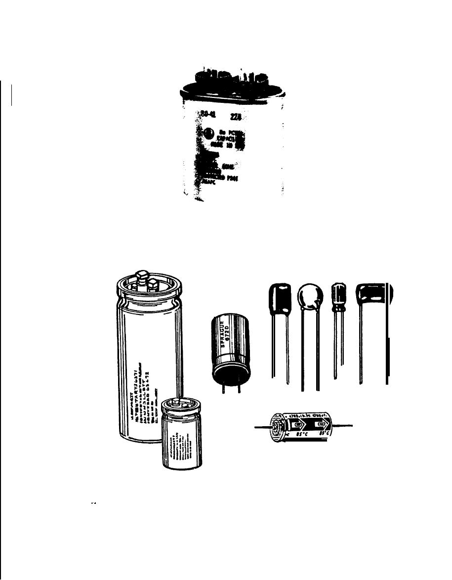 Figure 7-1. Typical Capacitor Types: a) Oil-filled AC