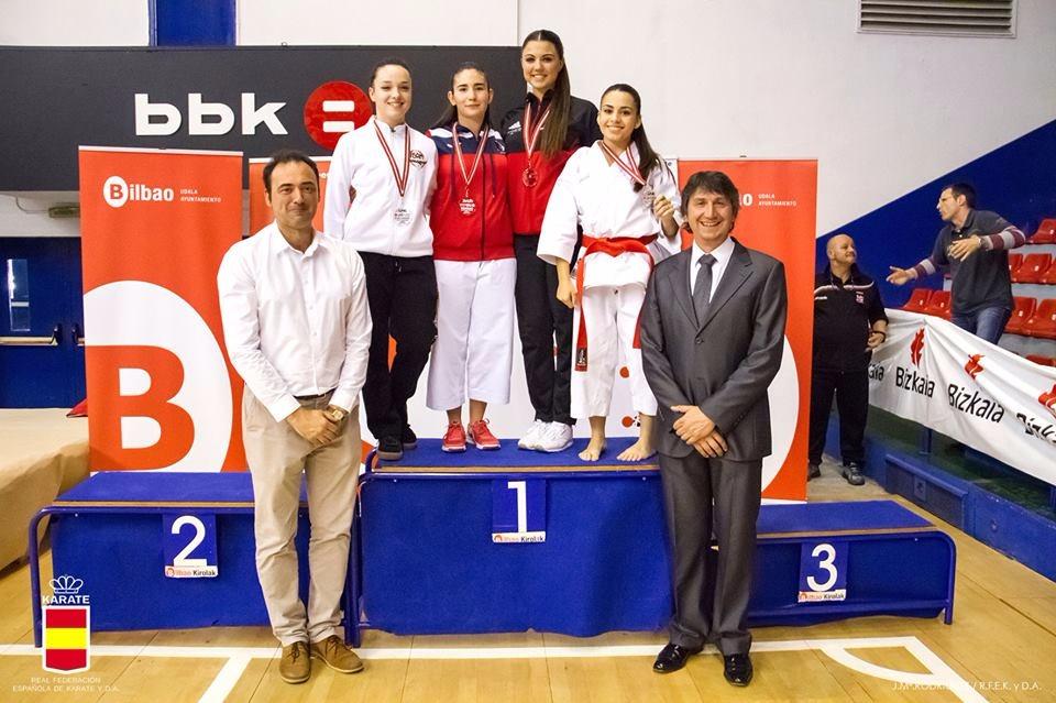Podium - Lydia Curiel Mateos bronce en la 1ª Fase de la Liga RFEK 2017