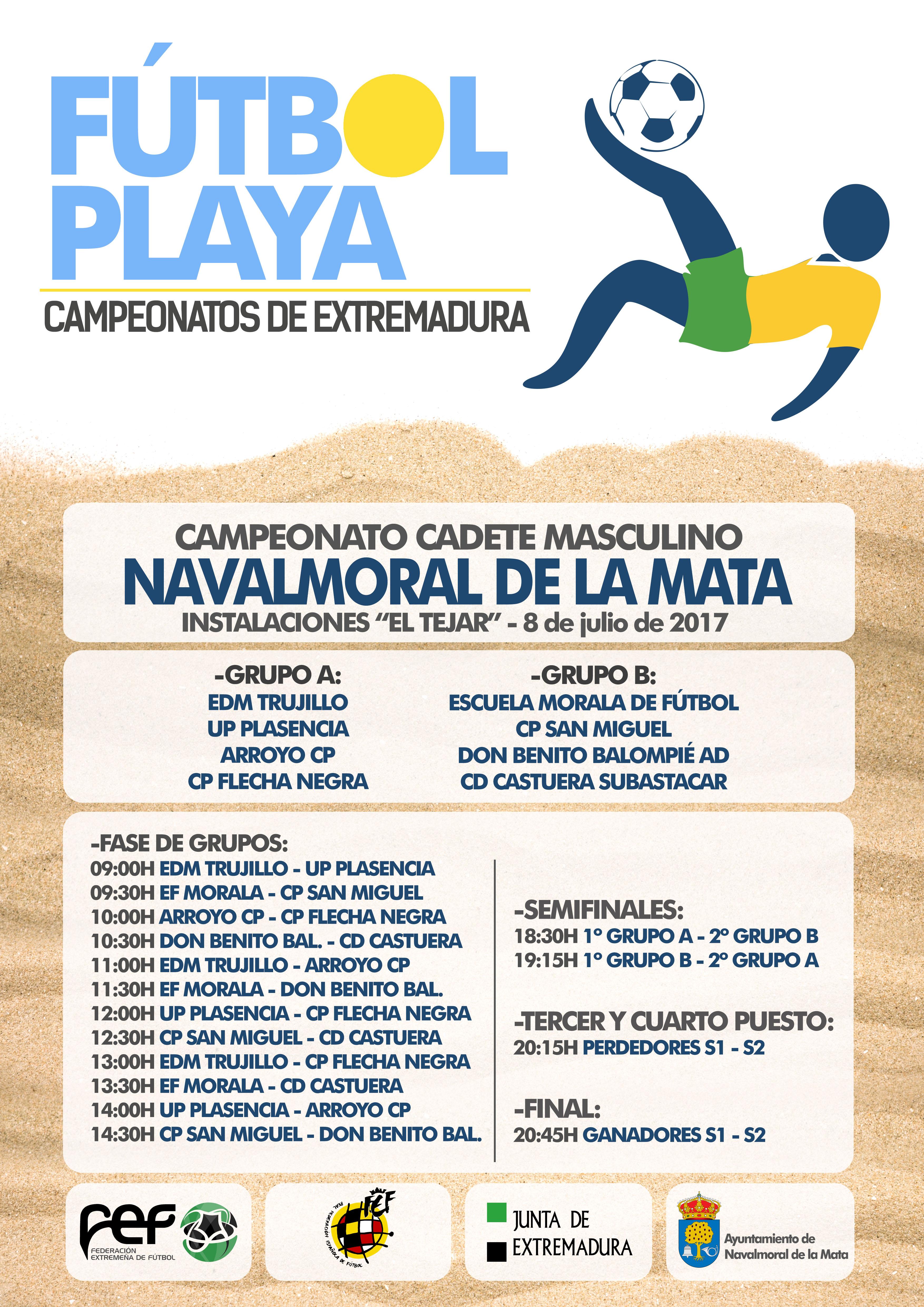 Campeonato Fútbol Playa Cadete en Navalmoral de la Mata