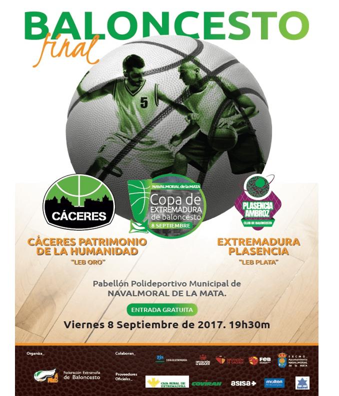 Final Copa de Extremadura de Baloncesto 2017 en Navalmoral de la Mata