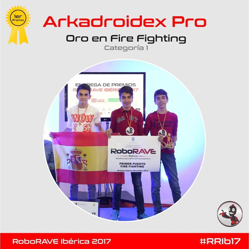 ArcaDroidEx Pro Campeones en Fire Fighting y clasificados para el mundial de Estados Unidos