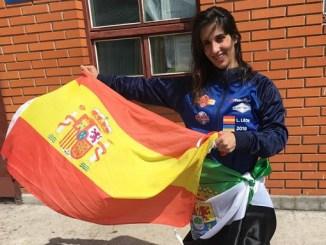 Lourdes León, del club MAE FIGHTING, campeona del mundo de Kick Boxing en KIEV