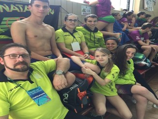 Siete nadadores del Club Natación Moralo participaron en el Trofeo Cordialidad en Almendralejo