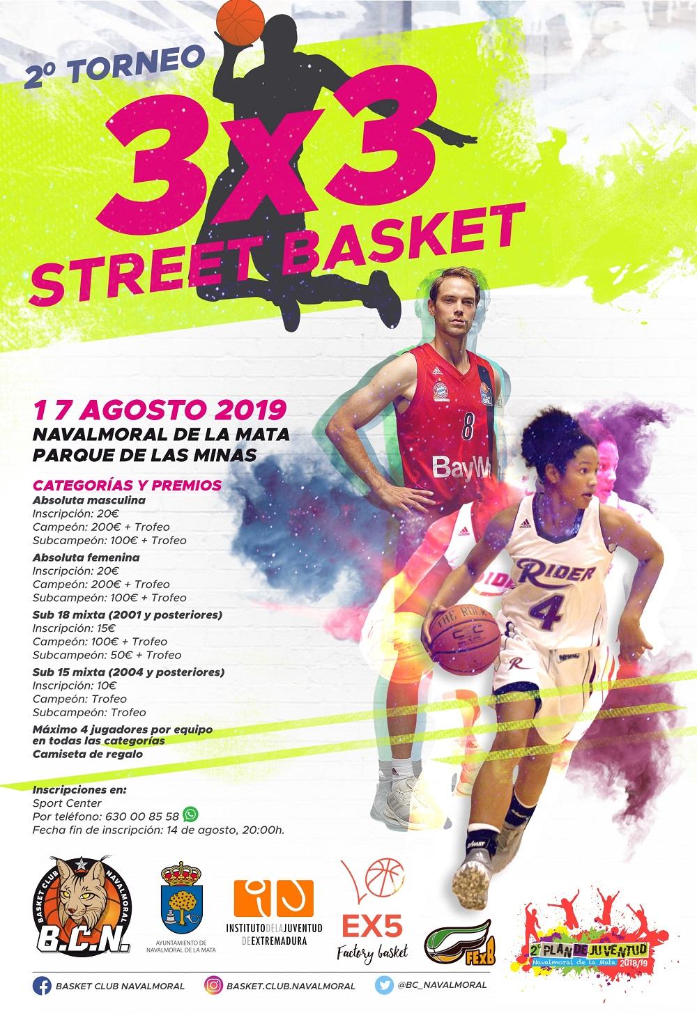 Segunda edición del 3x3 Street Basket de Navalmoral de la Mata