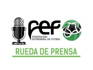 Rueda de prensa FEXFutbol