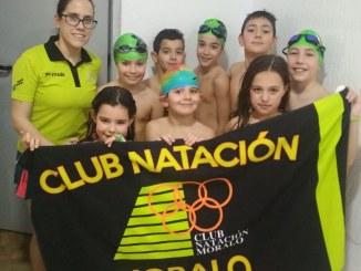 Ocho nadadores prebenjamines en Cáceres en la II Jornada JUDEX PREBENJAMÍN