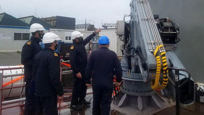 ara piedrabuena crew attending training in france