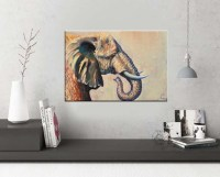 "Elephant wall art ""Beautiful giant"" wildlife art  art studio"