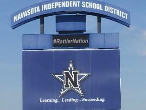 Navasota High School Stadium Sign