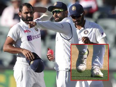 Mohammed Shami was seen bowling wearing a torn shoe, if not Totka, what is the reason