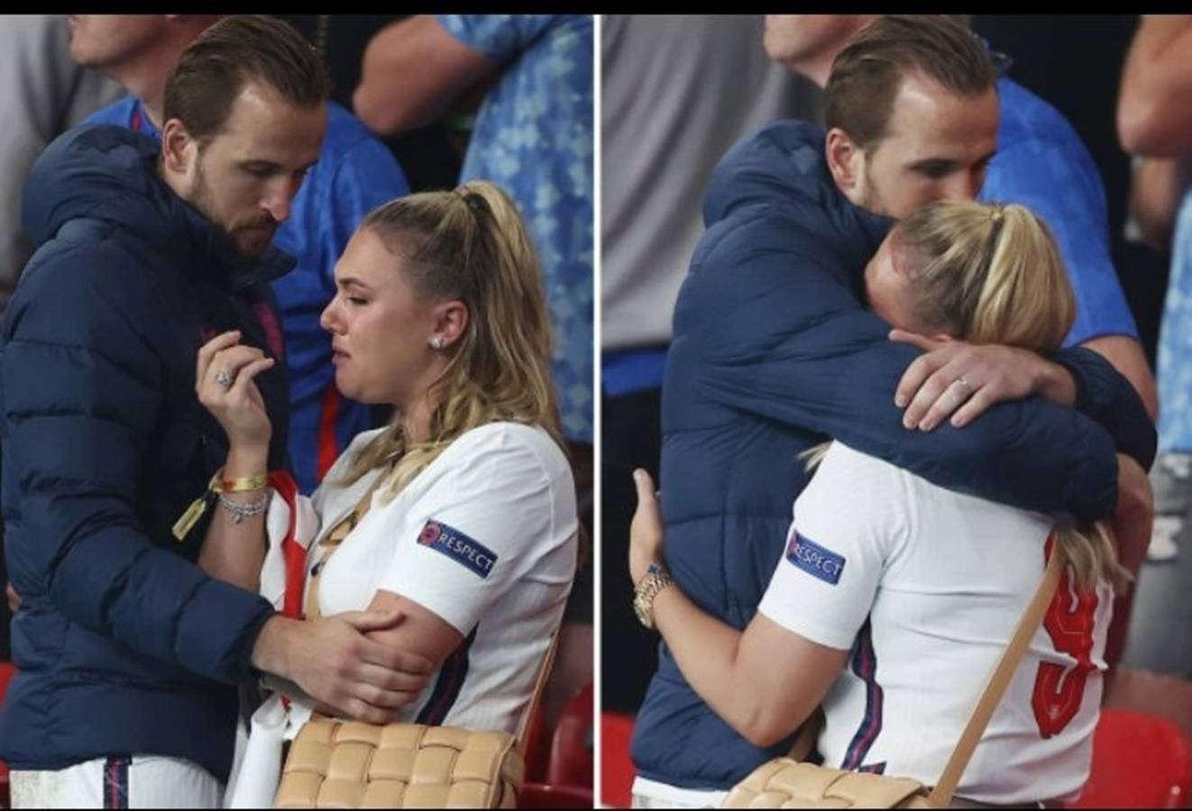 Harry Kane's wife Kate sheds tears after losing Euro 2020 to Italy
