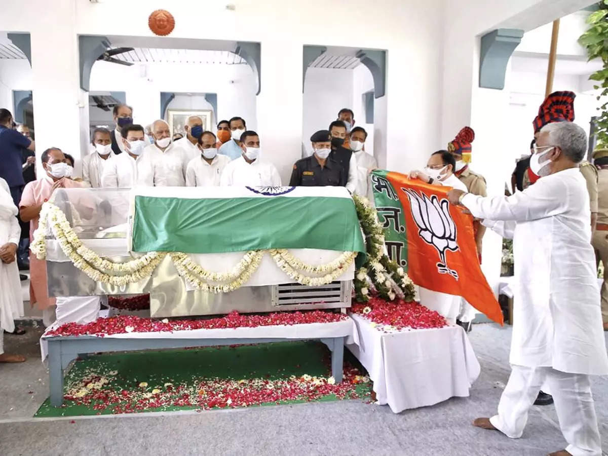 Kalyan Singh BJP flag: 'When I die, my body should also be wrapped in BJP flag', JP Nadda fulfilled that wish of Kalyan – when JP Nadda fulfilled his wish after the death of Kalyan Singh