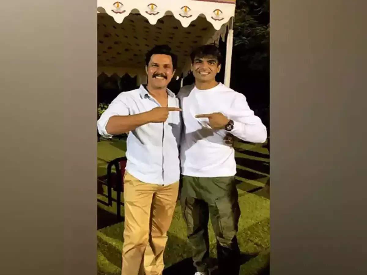 Randeep Hooda meets Neeraj Chopra: Randeep Hooda meets Olympic gold medalist Neeraj Chopra