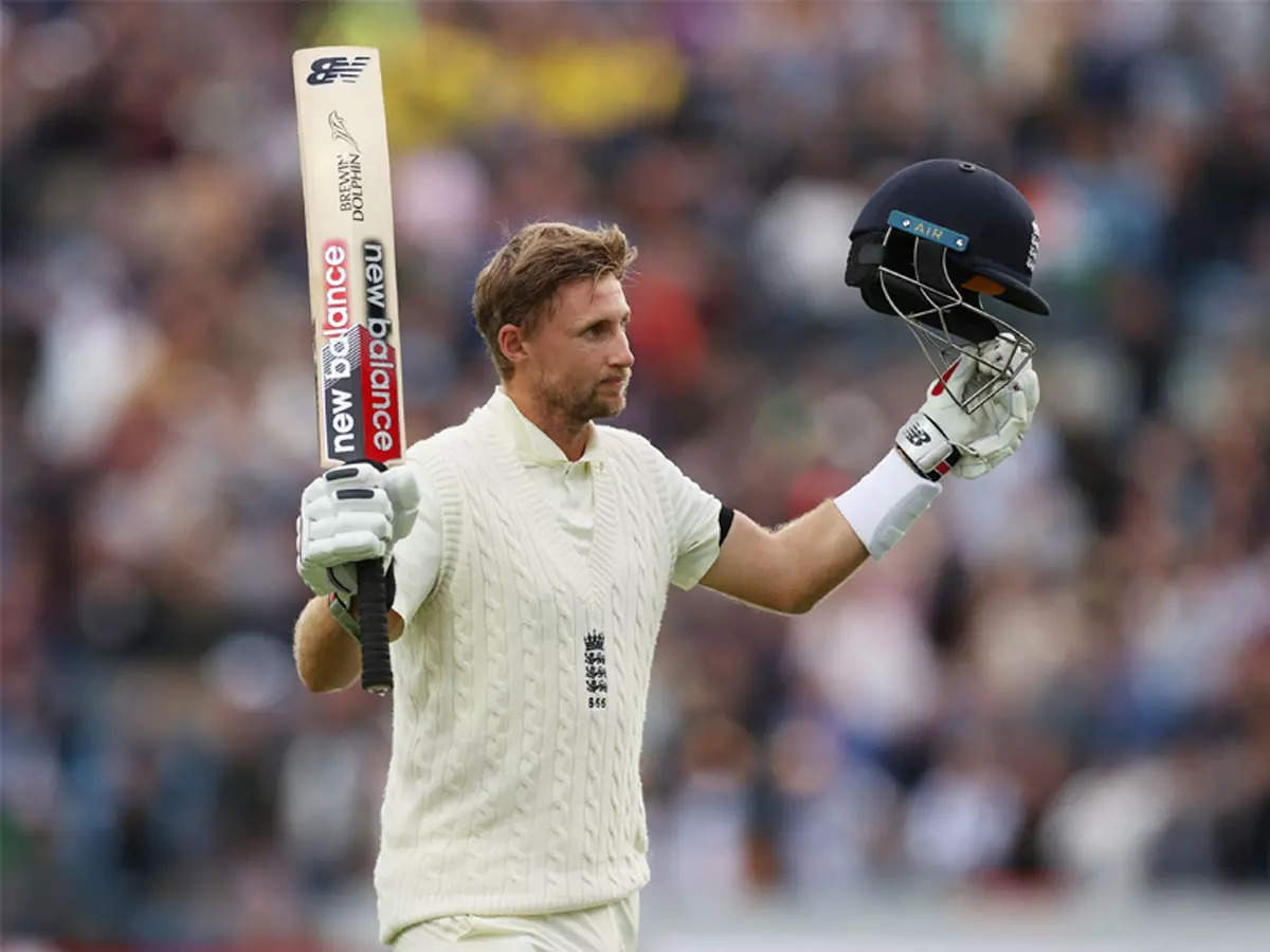 Joe Root's hat-trick century gave England a 345-run lead over India.