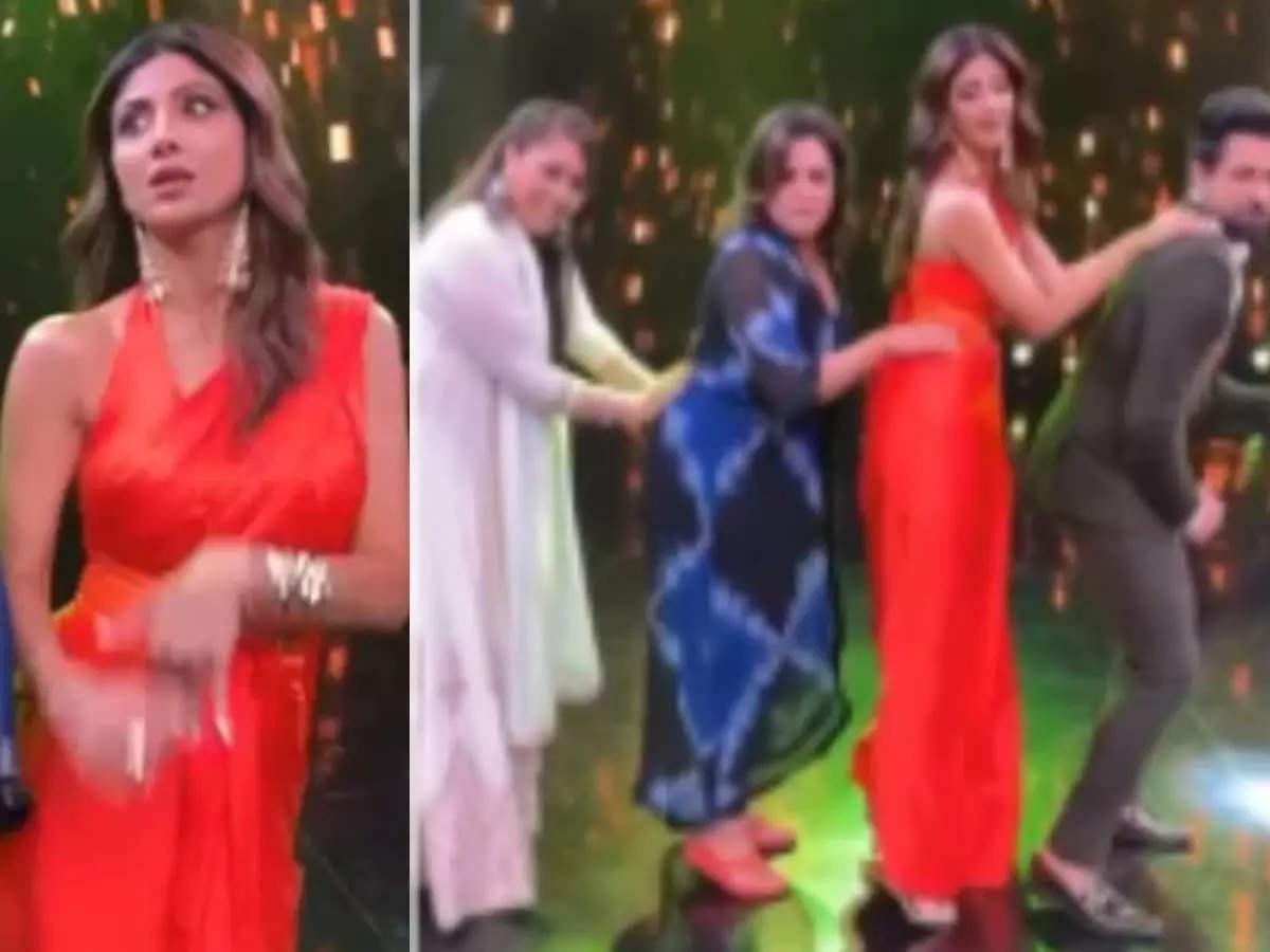 Shilpa Shetty dances: Shilpa Shetty dances with Farah Khan in Super Dancer 4 Video goes viral Super Dancer 4: Shilpa Shetty dances with Farah Khan, Video goes viral