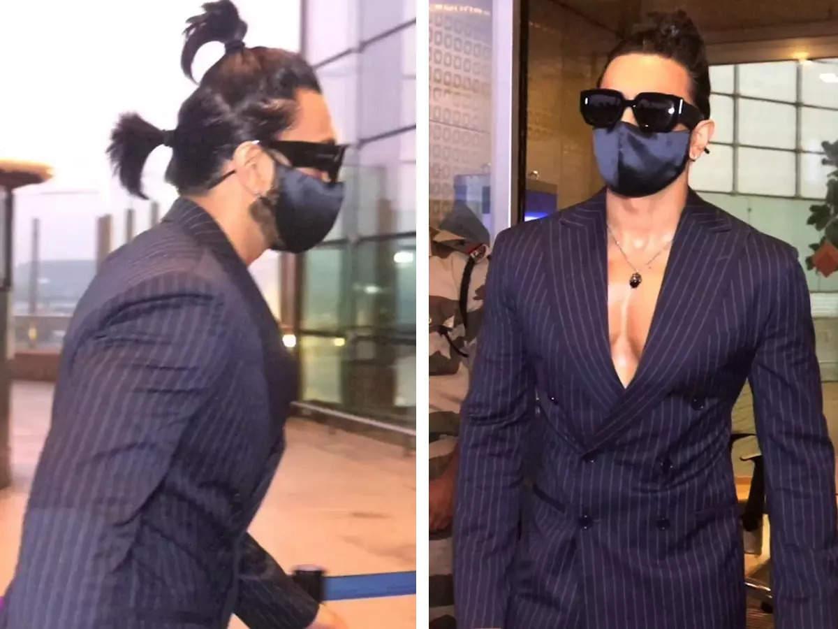 Ranveer Singh Two Ponytail Looks: Ranveer Singh Bizarre Fashion With Two Ponytails