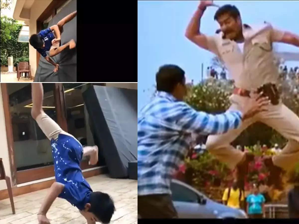 Ajay Devgn's son Yug's birthday: Ajay Devgn's son Yug's birthday Watch his crazy workout video: Ajay Devgn's son Yug is very expert in action, PM Modi has praised the red of 'Singham'