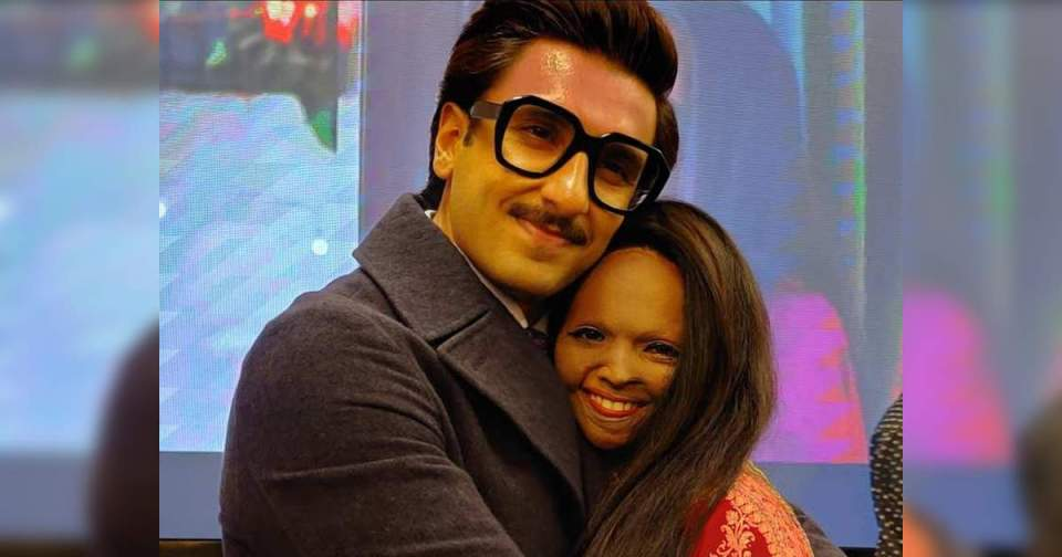 Chhapaak: Chhapak: Laxmi shares photo with Ranveer, tells actor Best – laxmi agarwal shares a picture with ranveer singh and calls him as the best