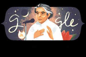google doodle: kafi azmi in google doodle today, learn why remembering – google doodle celebrates kaifi azmi birthday