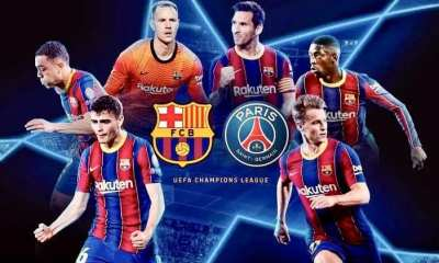 STREAM LIVE: Barcelona Vs Paris Saint-Germain [Watch Now] CHAMPIONS LEAGUE 2020/2021