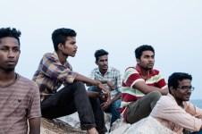 kerala, kollam, quillon, india, tangassery, beach, breakwater, arabian sea