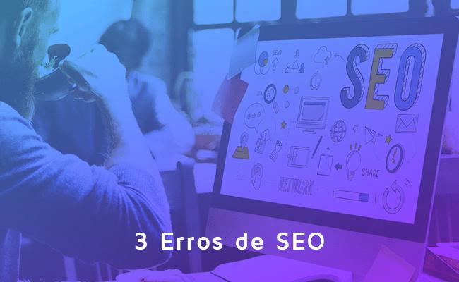 3 erros de SEO, WordPress