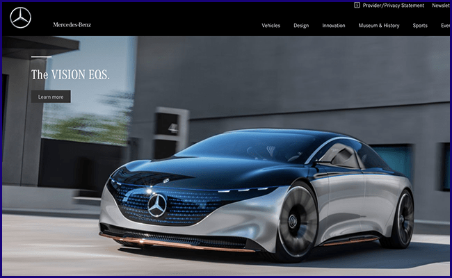 Site Institucional da Mercedes Benz