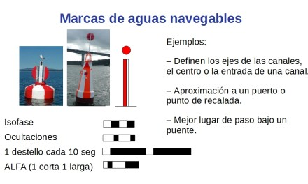 Balizamiento Marítimo (IV) – Marcas de aguas navegables.