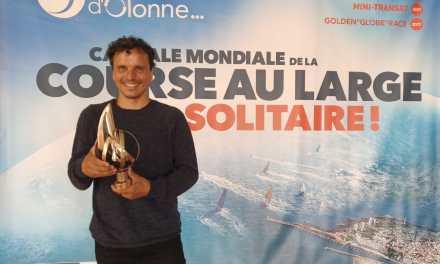 Didac Costa atiende la ceremonia de entrega de premios de la  VENDÉE GLOBE