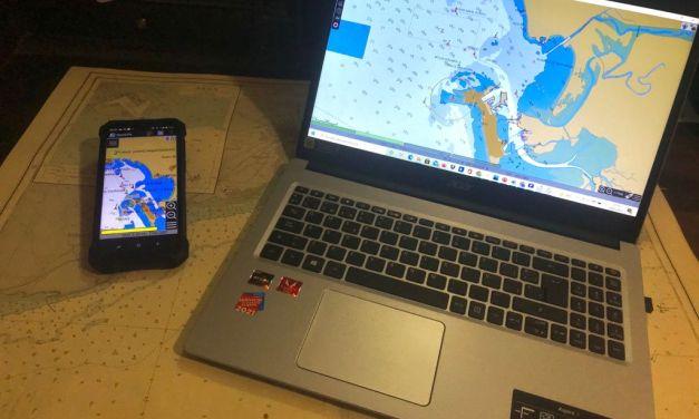 OpenCPN, software de navegación para un velero