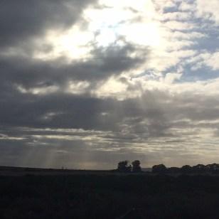Rain clouds teasing