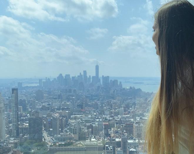 La vue d'une classe de Kaplan à l'Empire State Building
